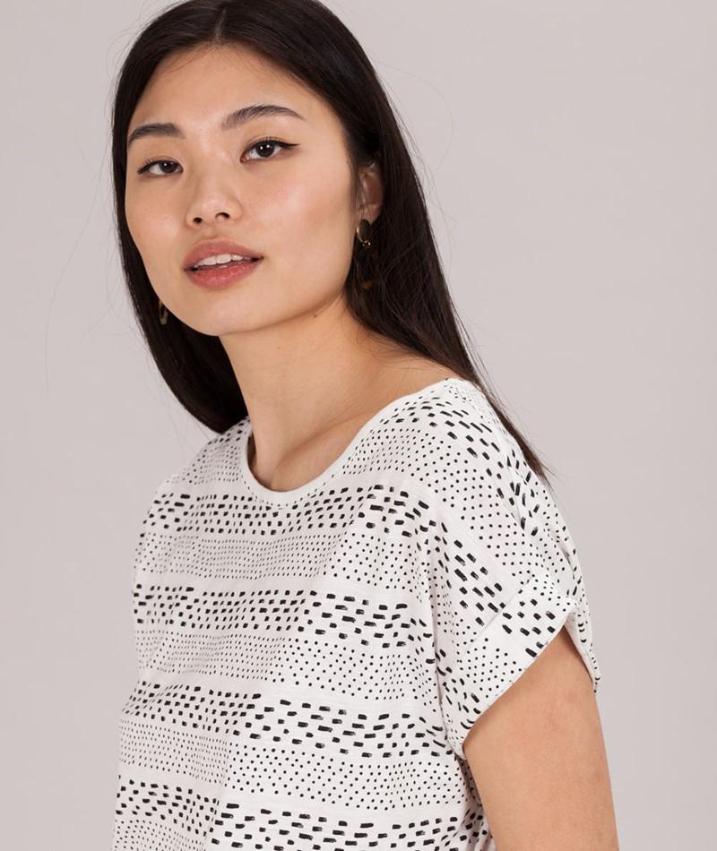 WEMOTO Holly T-Shirt offwhite/black