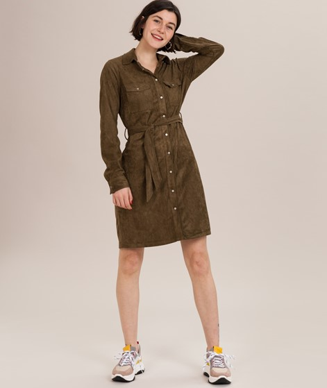 GLOBAL FUNK Moscow Kleid olive