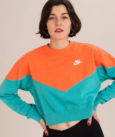 NIKE Fleece Crew Sweater cabana/turf ora