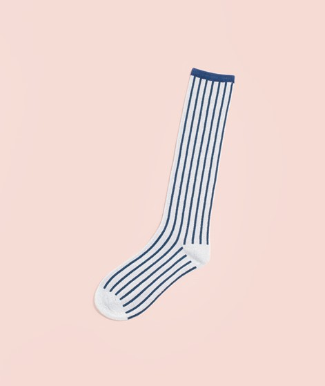 UNMADE CPH Solid Stripe Long Socken blue