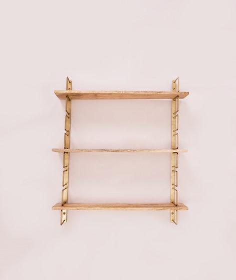 MADAM STOLTZ Wall rack ant. brass