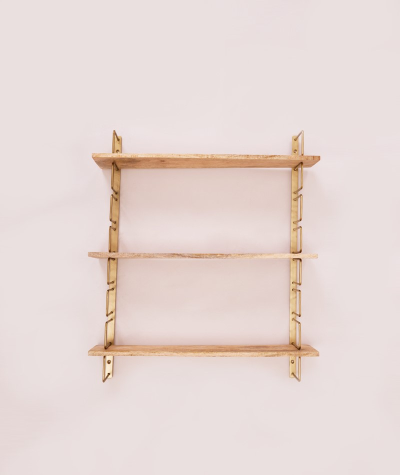 MADAM STOLTZ Wall rack ant. brass