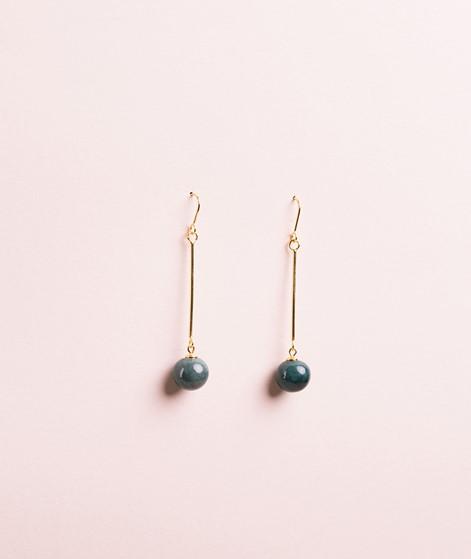 LOUISE KRAGH Pearl Ohrringe marble green