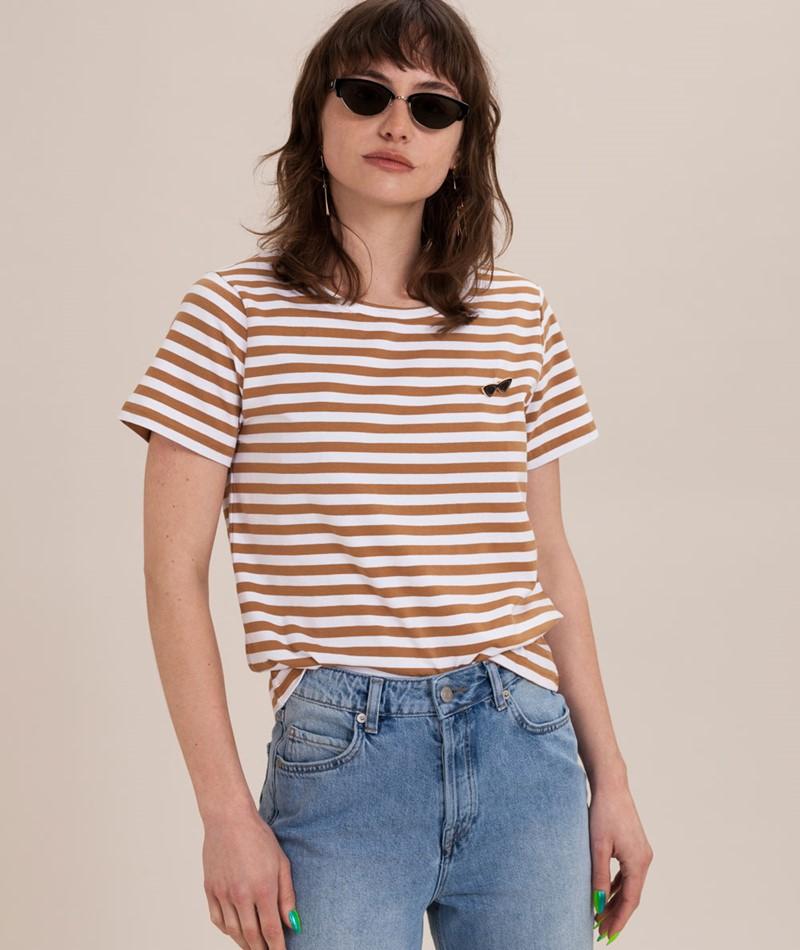 MINIMUM Gabriella T-Shirt tobacco brown