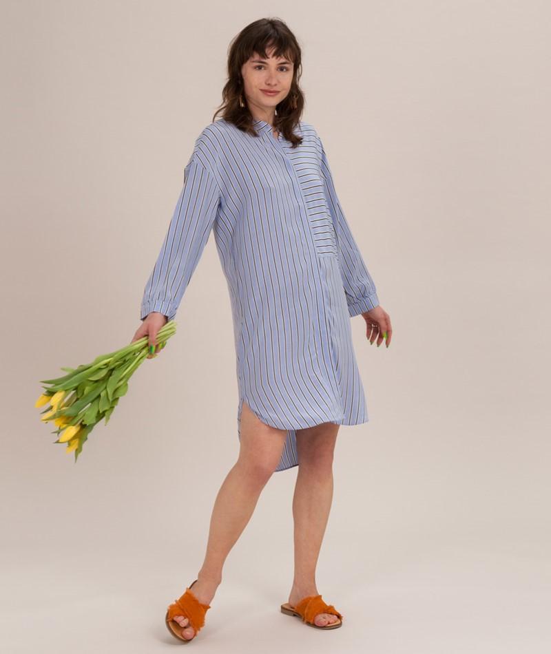 SECOND FEMALE Bertie Kleid brunnera blue