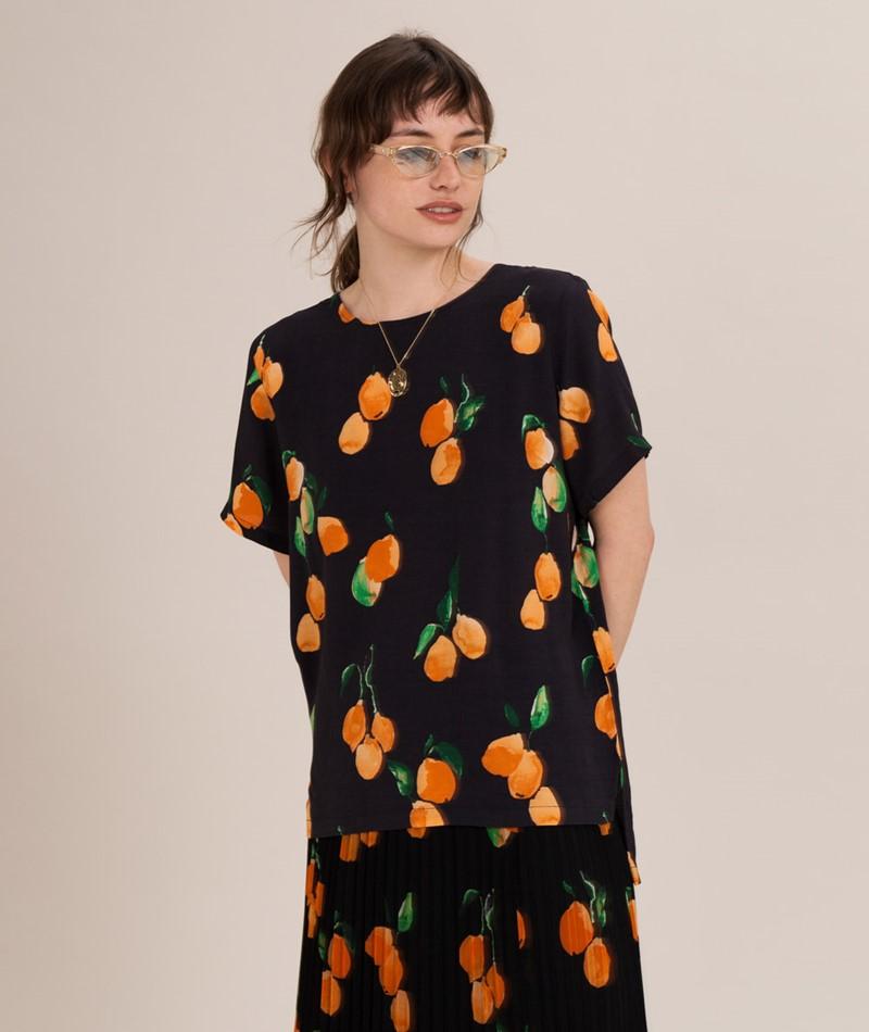 JUST FEMALE Sine Bluse oranges aop