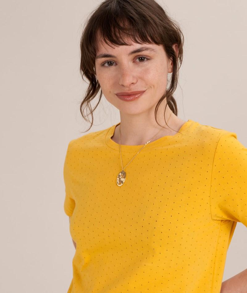 KAUF DICH GLÜCKLICH T-Shirt yellow