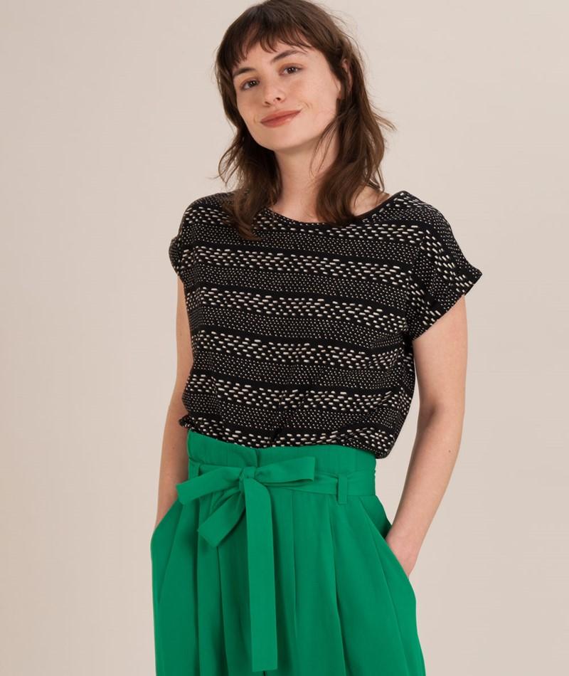 WEMOTO Holly T-Shirt black/offwhite