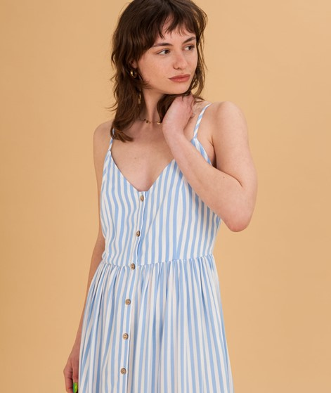 MBYM Pinny Kleid blue bell stripe