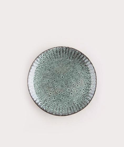 MADAM STOLTZ Stoneware Plate green black