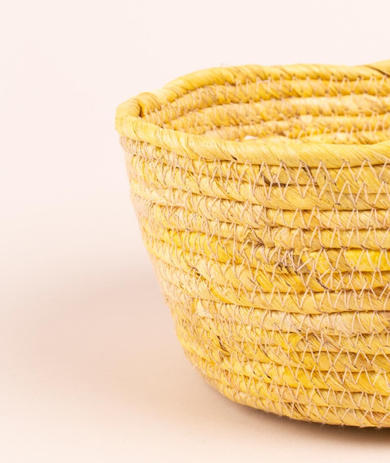 MADAM STOLTZ Corn basket lemon