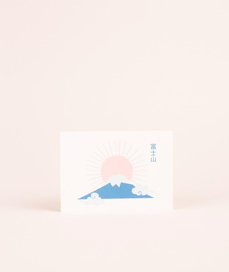 KAUF DICH GLÜCKLICH Postkarte Fuji