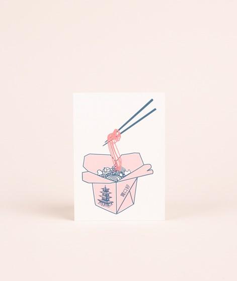 KAUF DICH GLÜCKLICH Postkarte Chinese Bo