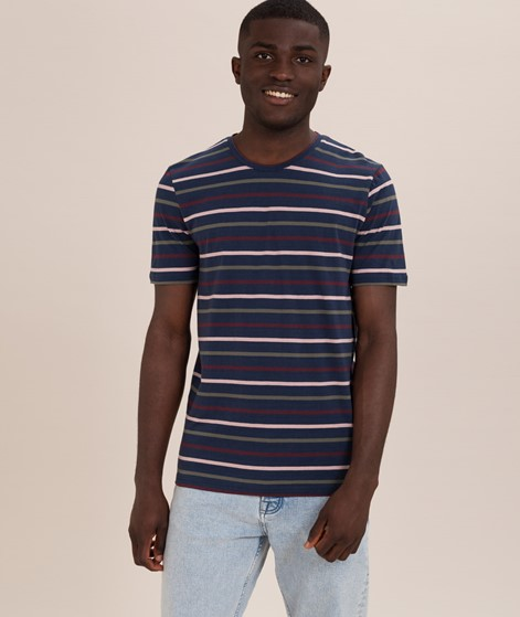 MINIMUM Wilson Striped T-Shirt navy blaz