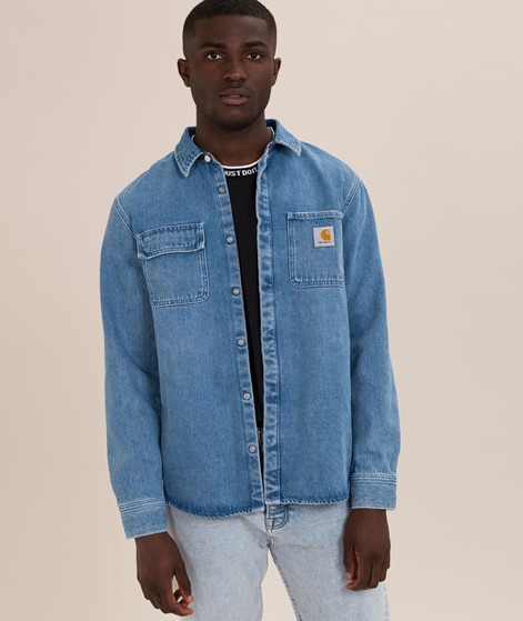 CARHARTT WIP Salinac Hemd blue light/st