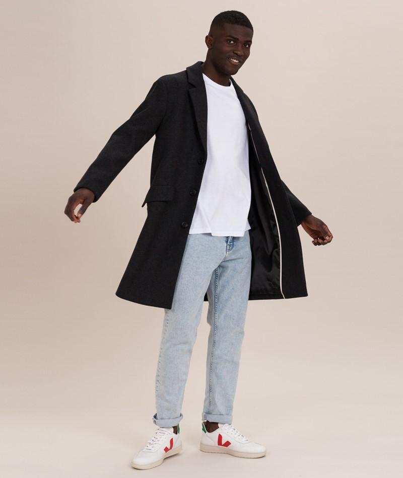 SELECTED HOMME SLHSmart Wool Mantel dark