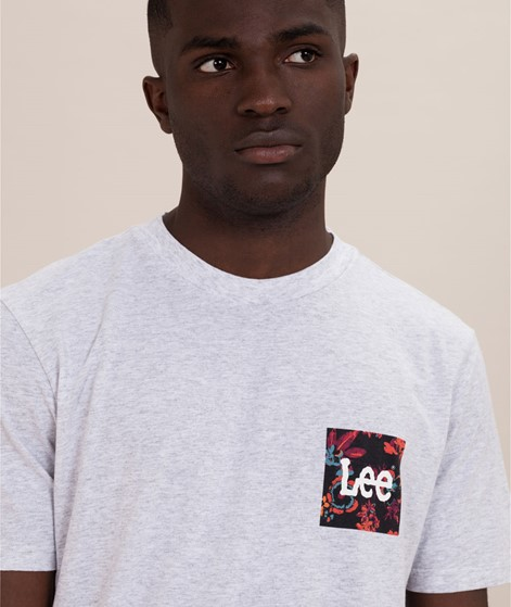 LEE Botanical T-Shirt sharp grey mele