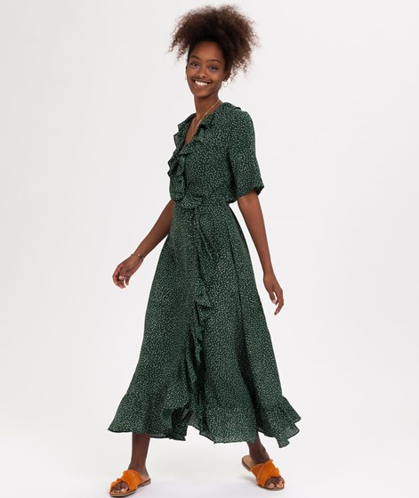 JUST FEMALE Image Maxi Wrap Kleid green
