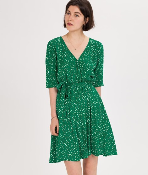 ANOTHER LABEL Gold Kleid jolly green dot