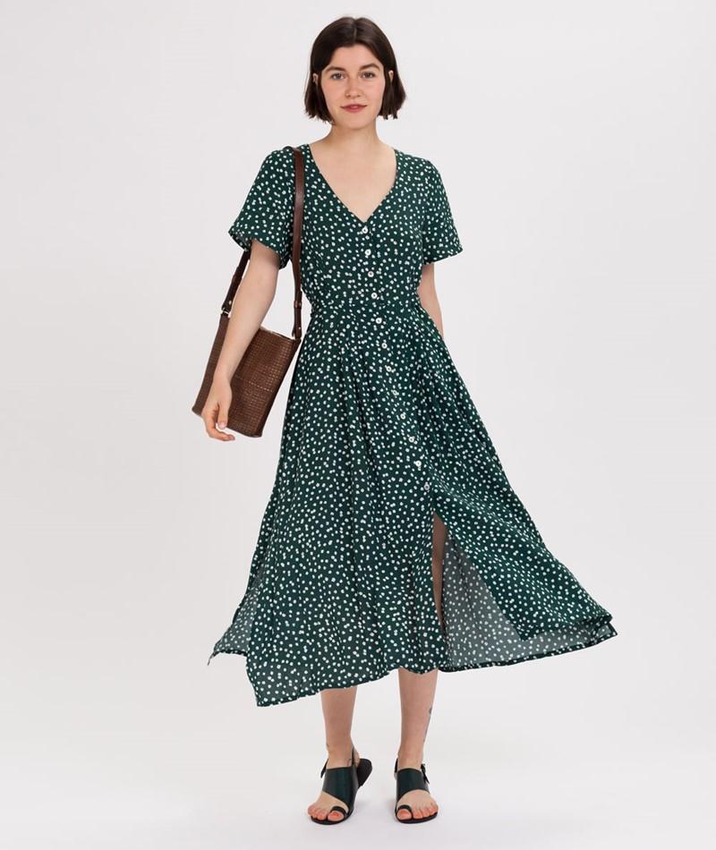 KAUF DICH GLÜCKLICH Silke Kleid grün
