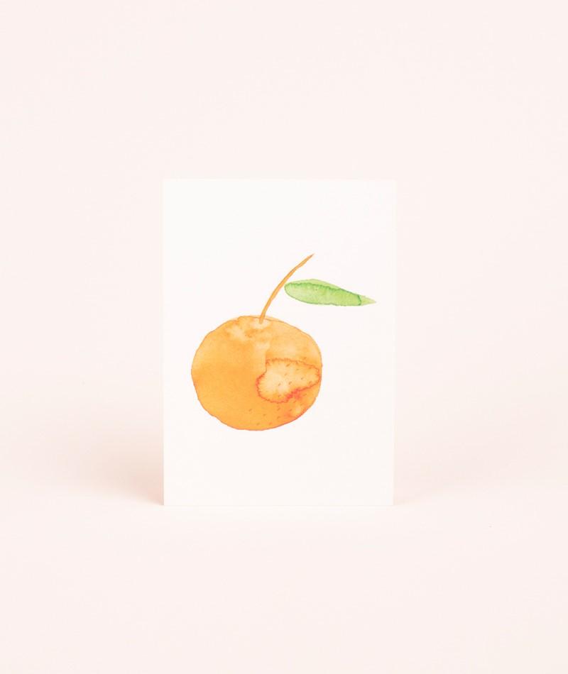 KAUF DICH GLÜCKLICH Postkarte Orange II