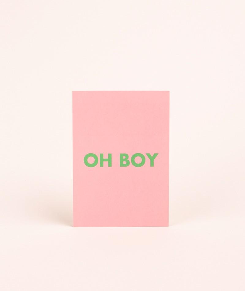 KAUF DICH GLÜCKLICH Postkarte boy