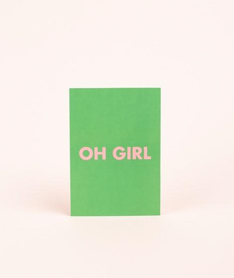 KAUF DICH GLÜCKLICH Postkarte girl