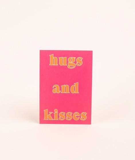 KAUF DICH GLÜCKLICH Postkarte hugs
