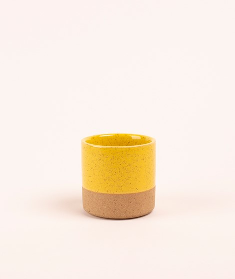 MADAM STOLTZ Two tone flower pot yellow