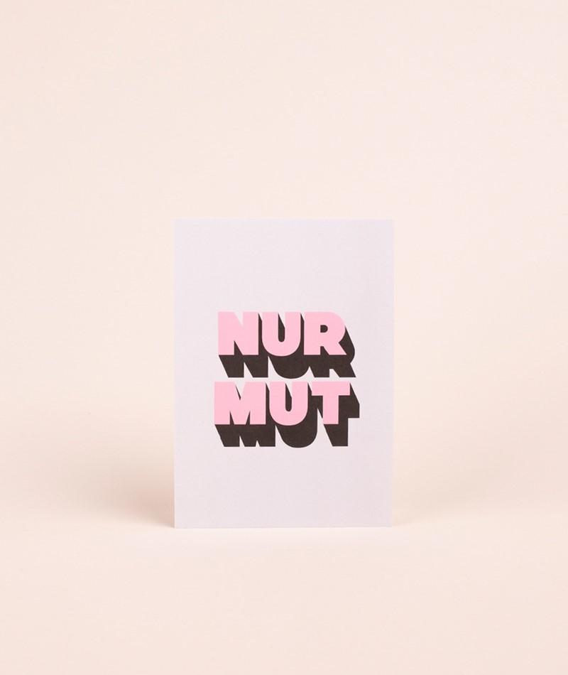 NAVUCKO Postkarte Nur Mut