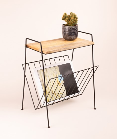 MADAM STOLTZ Magazine Rack black