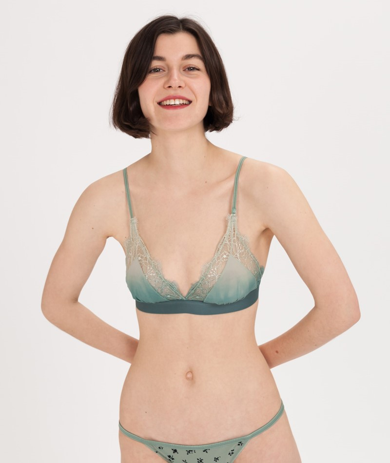 LOVE STORIES Love Lace Bra pine
