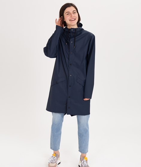 RAINS Long Jacket Jacke blue