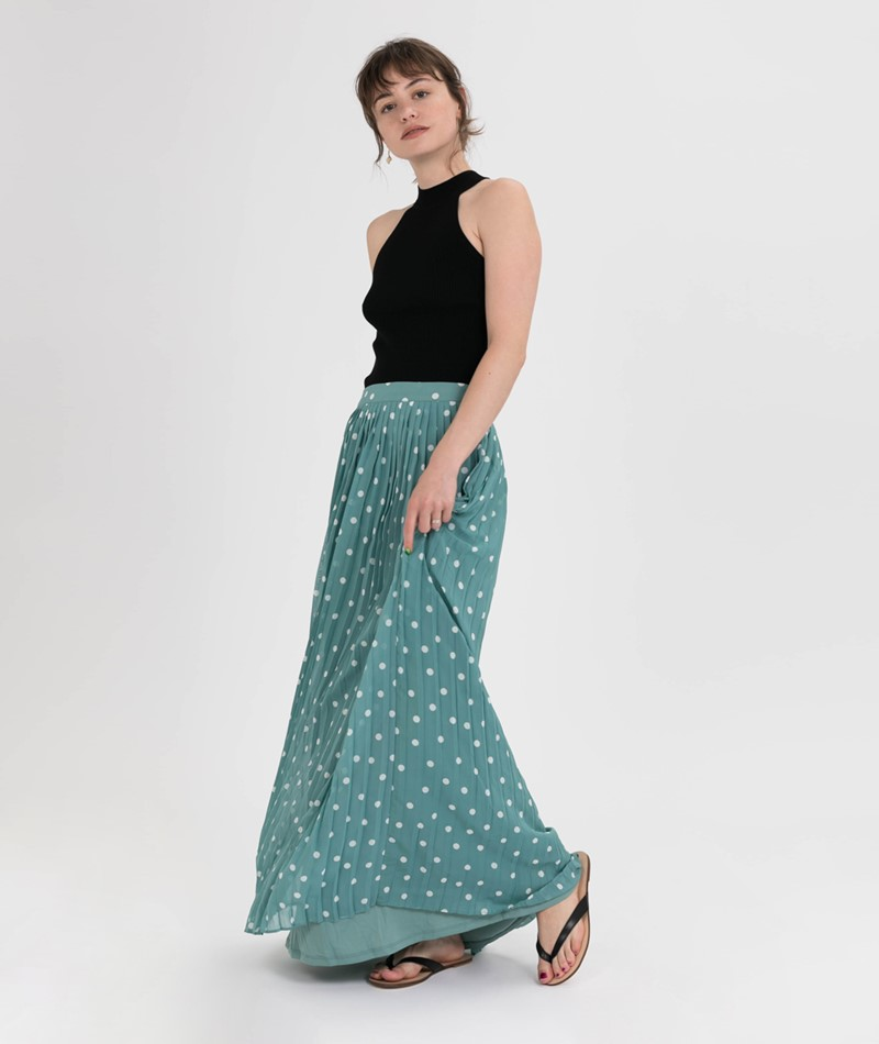 VILA Vyrsa Dot Maxi Rock oil blue