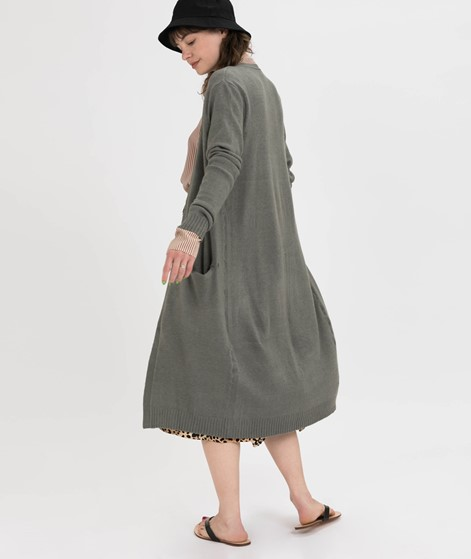 VILA Viril Long Cardigan castor gray