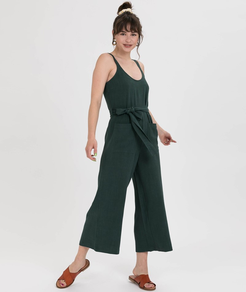 NATIVE YOUTH Leanne Jumpsuit dunkelgrün
