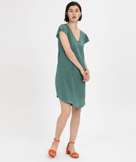 POP COPENHAGEN Satin Kleid teal