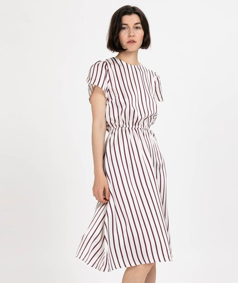 POP COPENHAGEN Striped Kleid cream