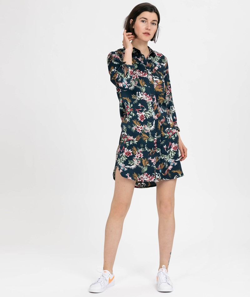 POP COPENHAGEN Flower Kleid navy