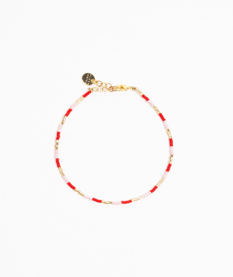 BLUSH INDIGO Lolli Mix Bracelet rose red