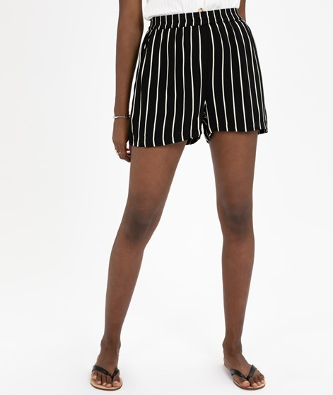 JUST FEMALE Anna Shorts black white stri