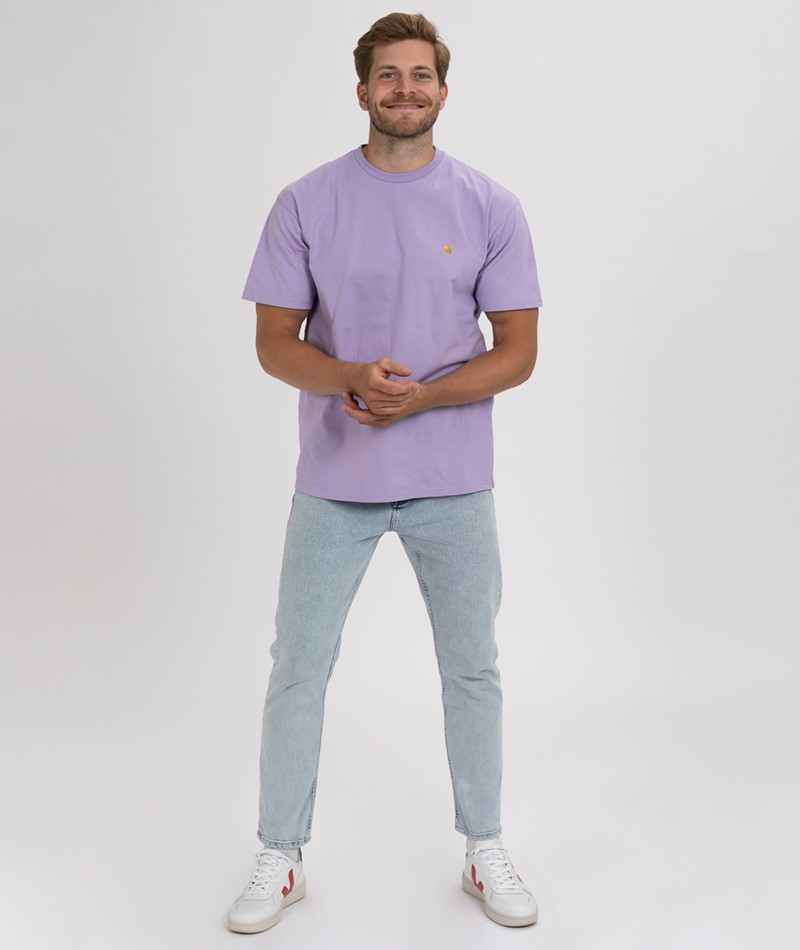 CARHARTT WIP Chase T-Shirt soft lavender