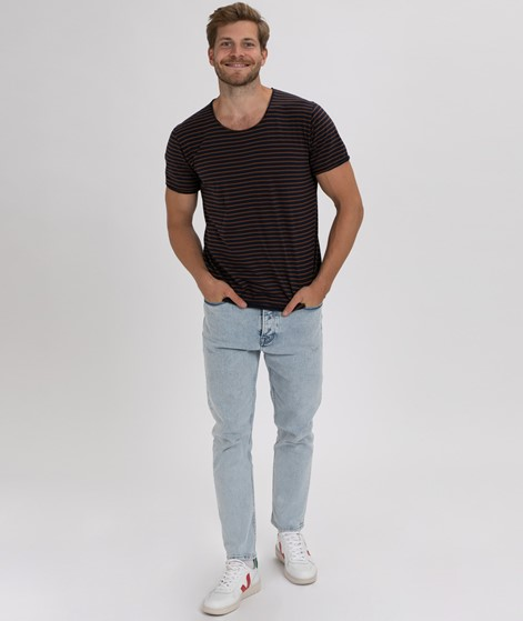 KAUF DICH GLÜCKLICH T-Shirt bl/br stripe
