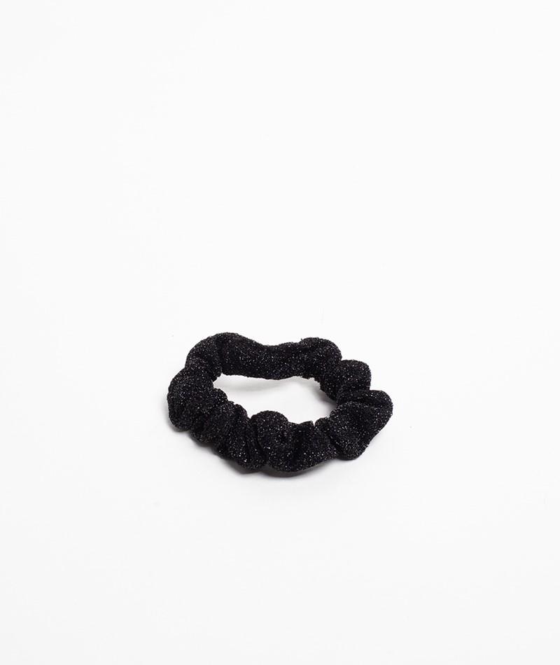 EBBA Small Lurex Scrunchie schwarz