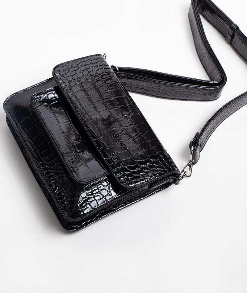 HVISK Cayman Pocket Handtasche black