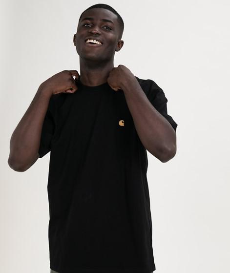 CARHARTT WIP Chase T-Shirt black gold