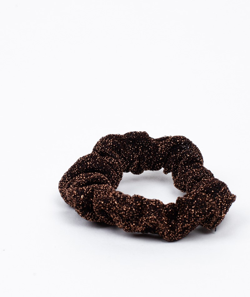 EBBA Small Lurex Scrunchie copper