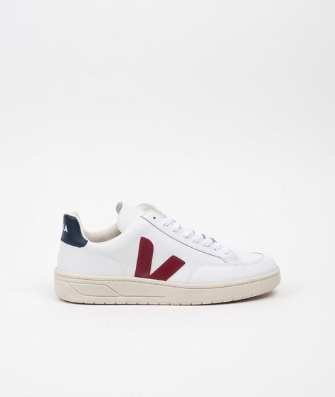 VEJA V-12 Sneaker white/marsala/nautico