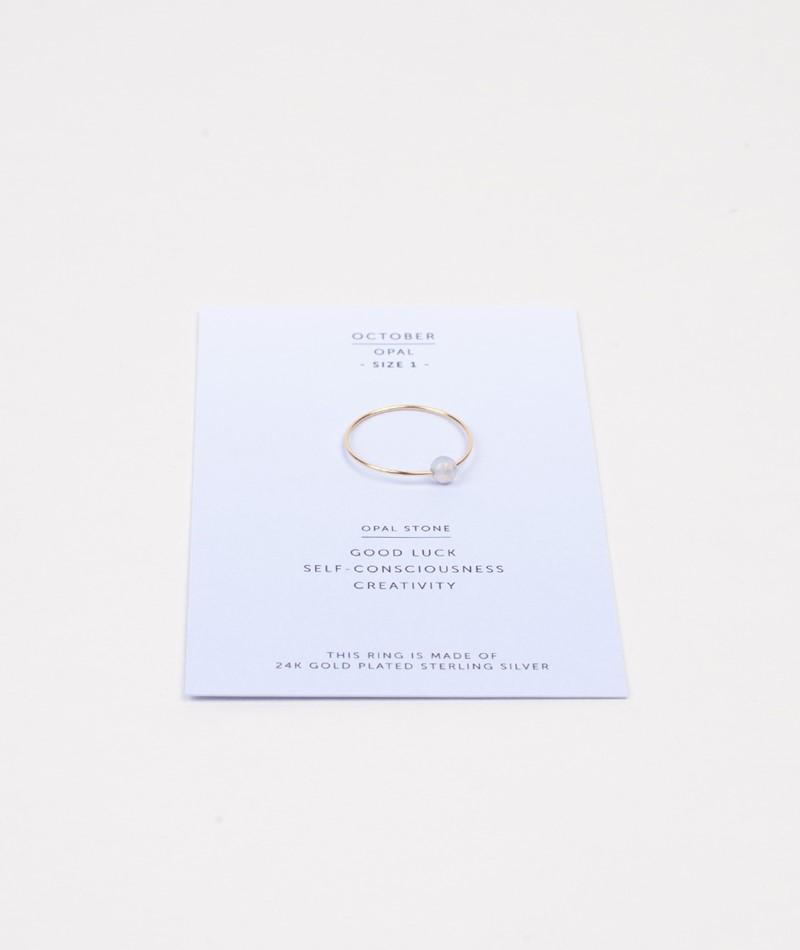JUKSEREI Birthstone Ring October