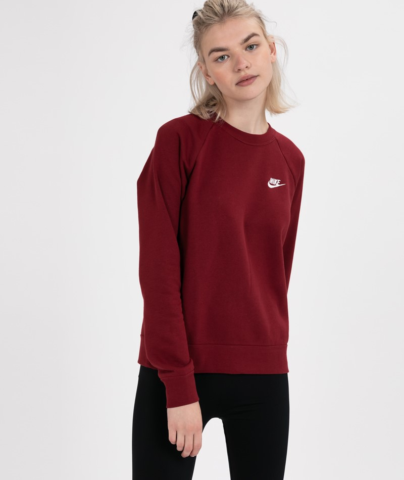 NIKE W NSW Essntl Sweater red